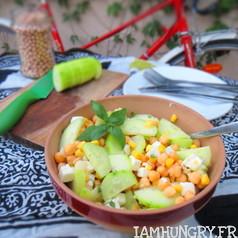 Salade pois chiche concombre