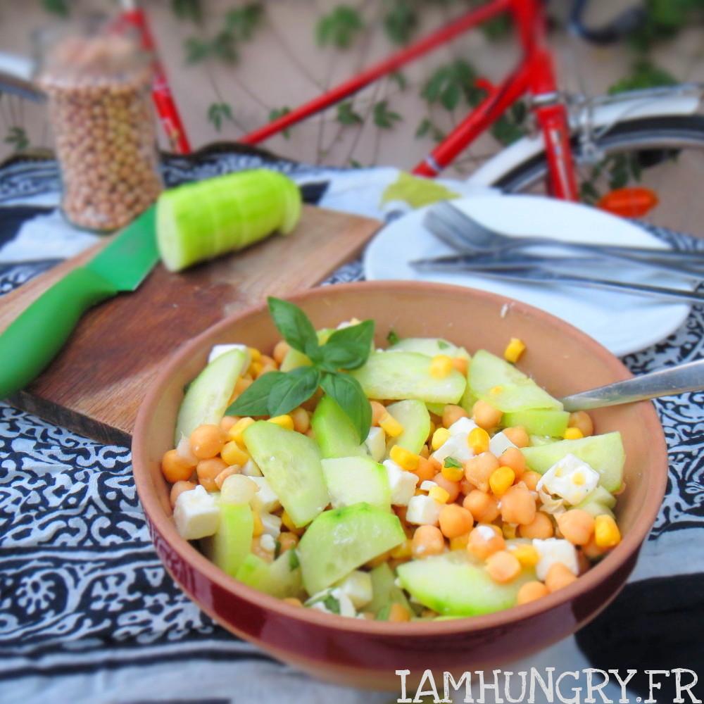 Salade de pois chiche au concombre