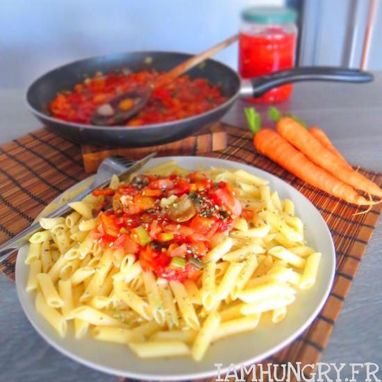 Sauce tomates aux petits légumes