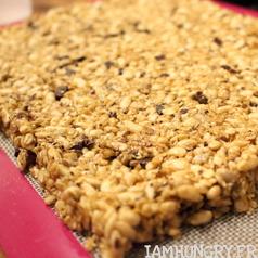 Barres de cereales riz souffle tahini 4