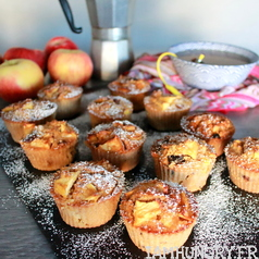 Muffins sante%cc%81 pomme canneberges 1c