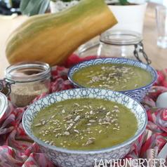 Soupe courge poireaux 1 carre