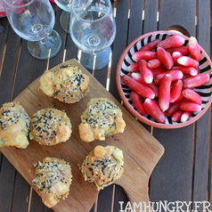 Muffins fanes radis