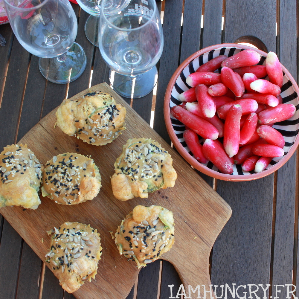 Muffins aux fanes de radis et chèvre