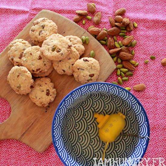 Biscuits pistache amandes et okara