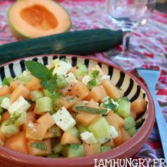 Salade concombre melon feta 1a