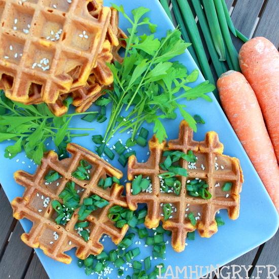 Gaufre à a carotte