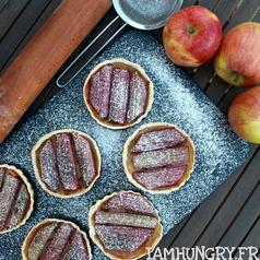 Tartelettes pommes rhuarbe 1c