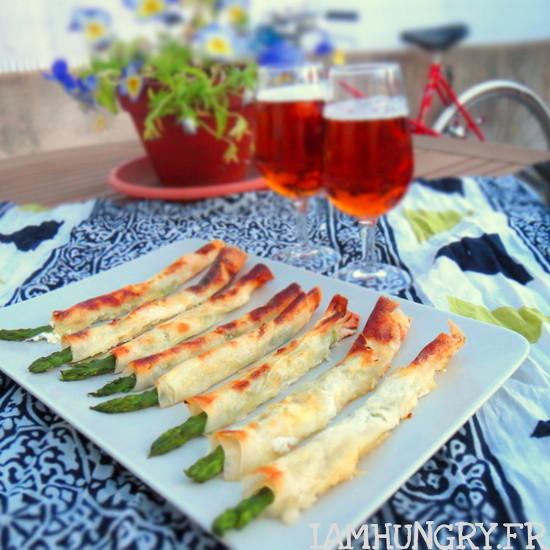 Bâtonnets croustillants aux asperges