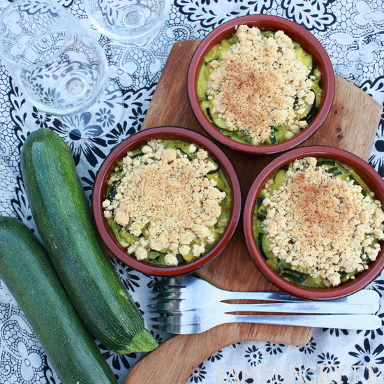 Crumble courgettes coco