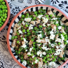 Salade petits pois lentille tofu fume%cc%81 1c