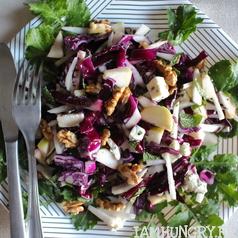 Salade choux rouge pomme roquefort 1c