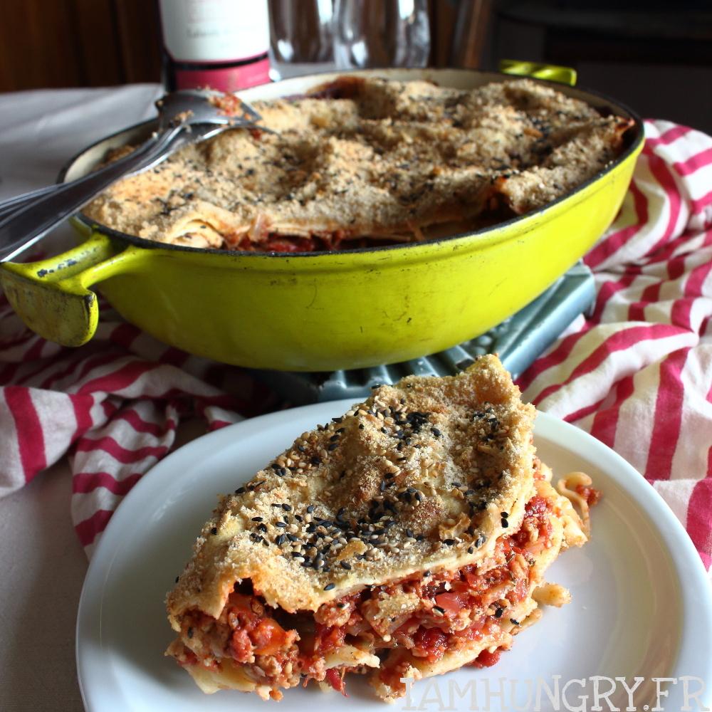 Lasagnes à la bolognaise végans