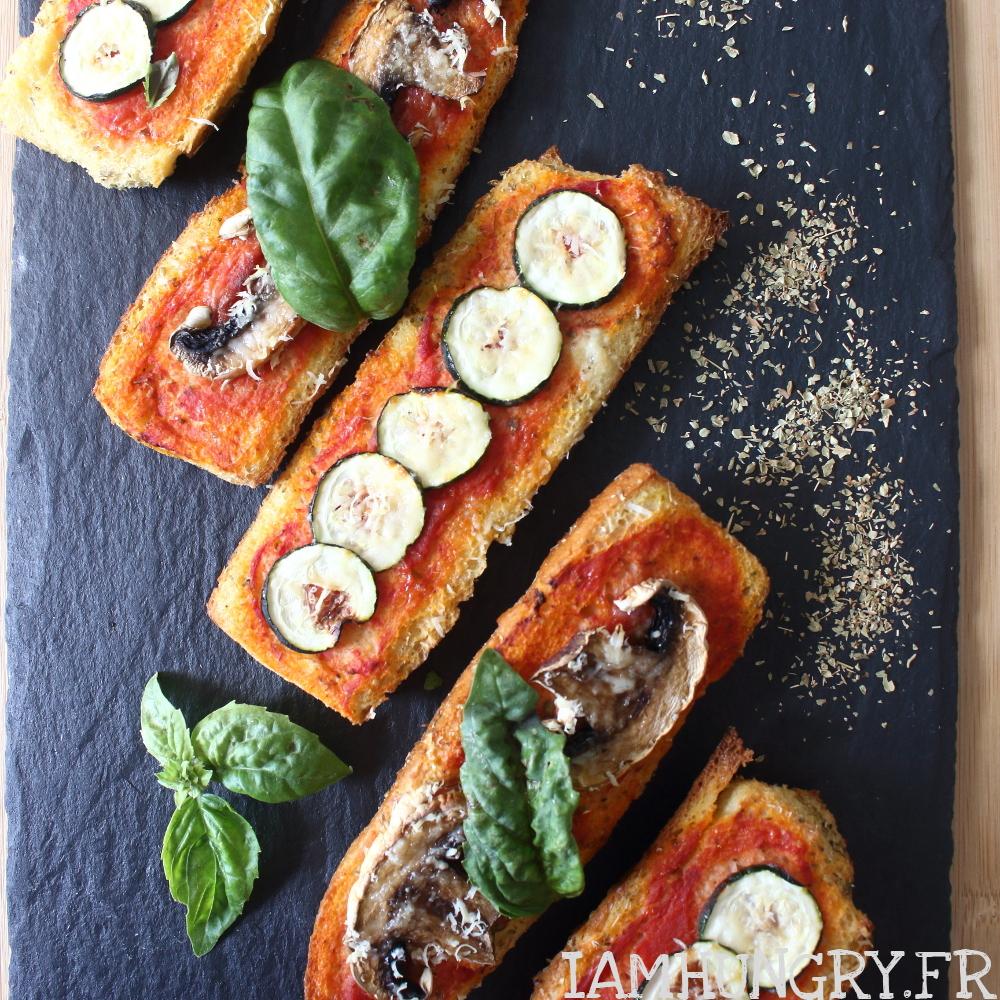 Pizzas sur pain perdu