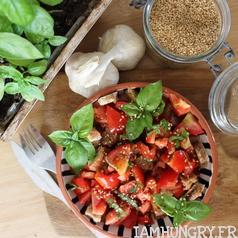 Salade tomates pain ail bruschetta 1a