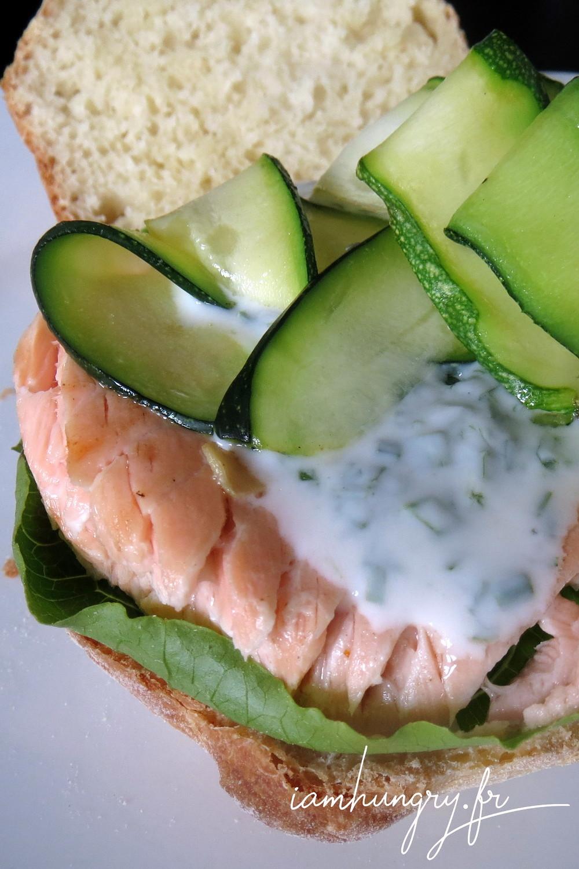 Burger saumon courgette