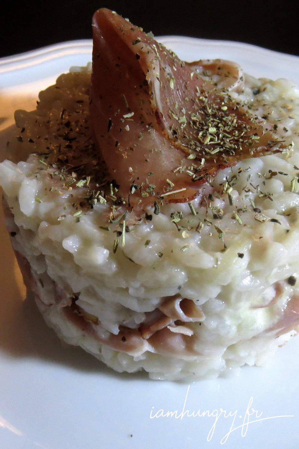 Risotto jambon parme fromag