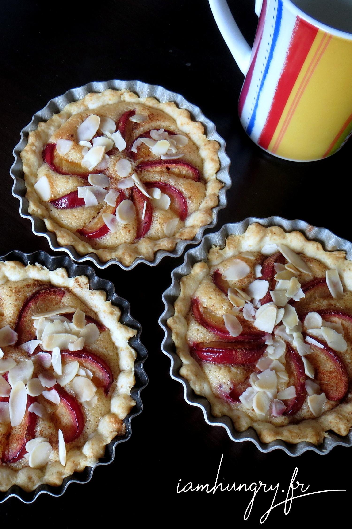 Tartelettes prunes et amandes