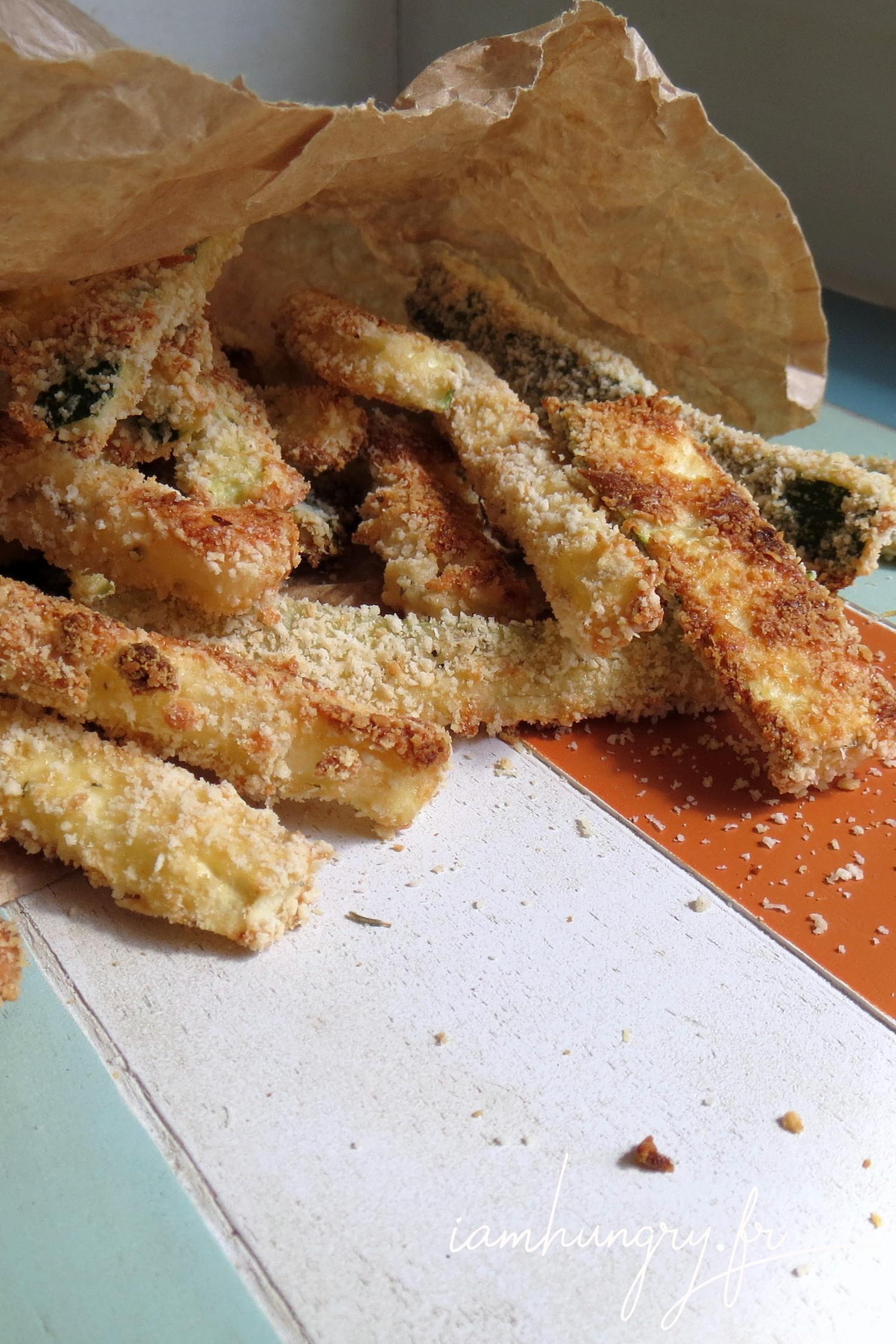 Frites de courgettes au parmesan