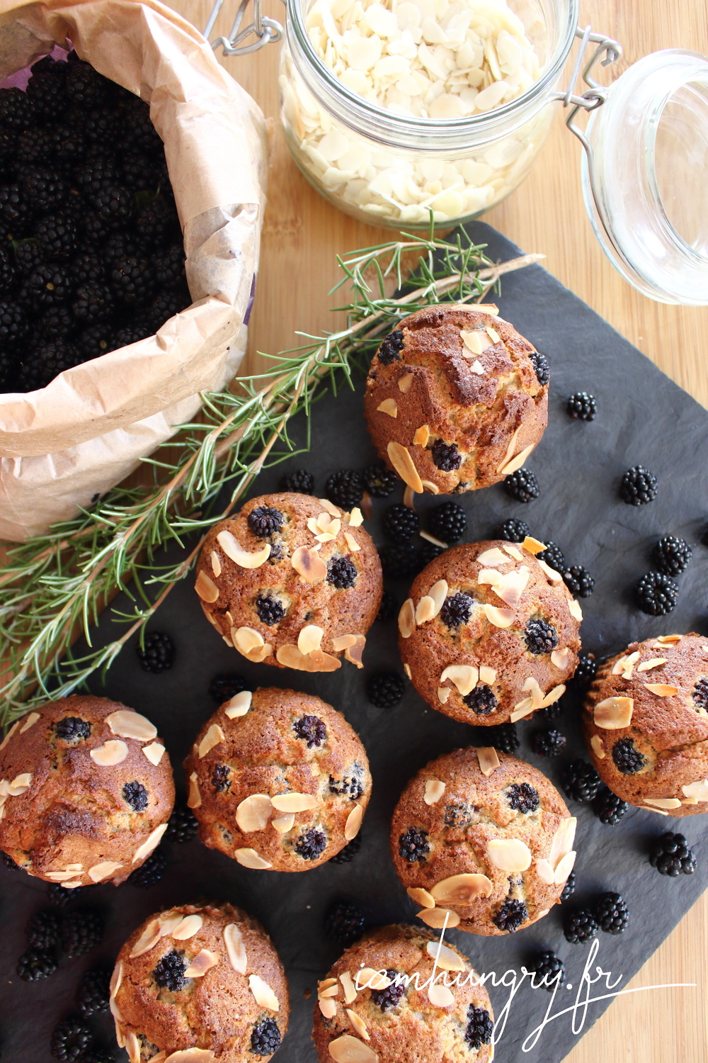Muffins mures amandes 1e