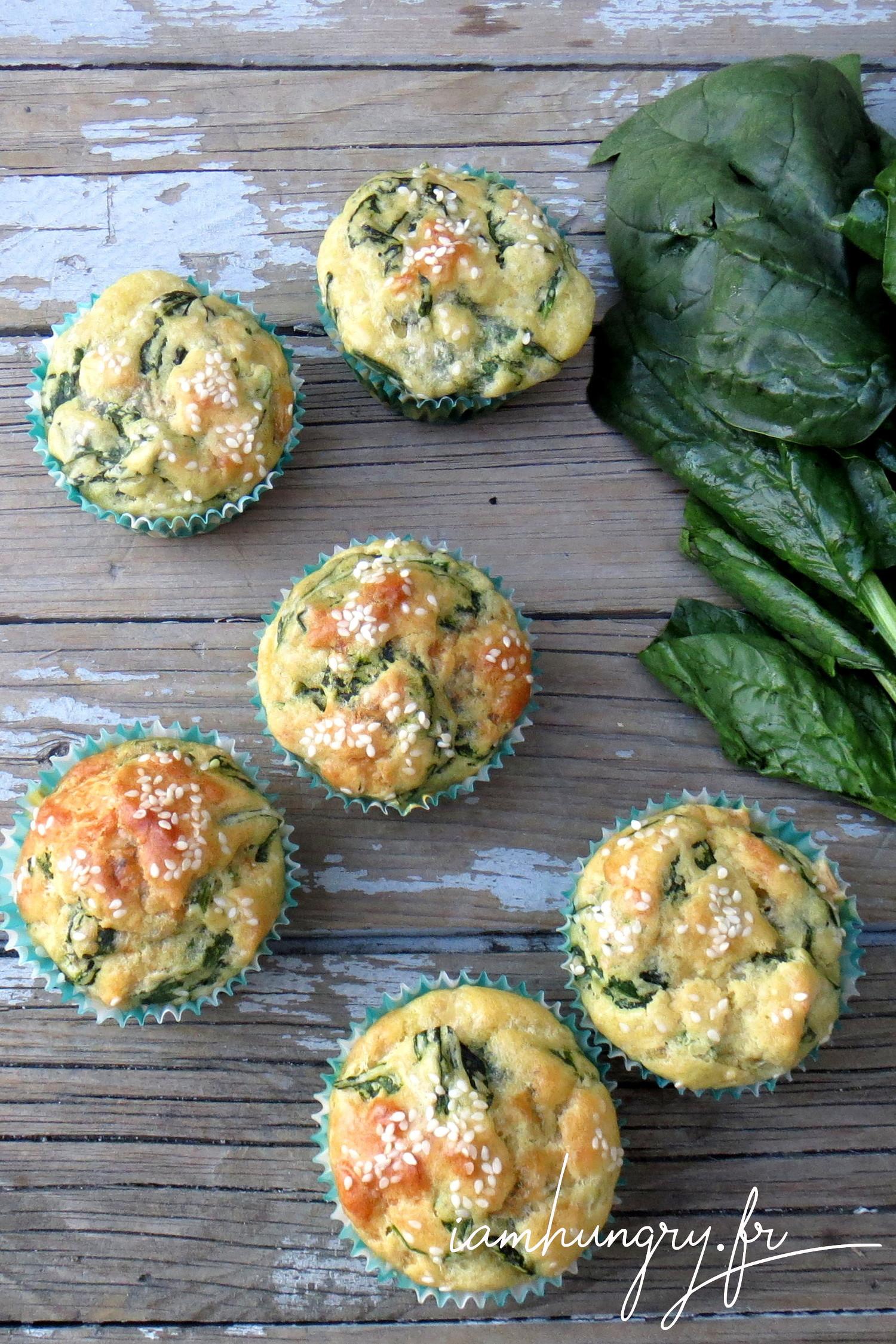 Muffins épinards et parmesan