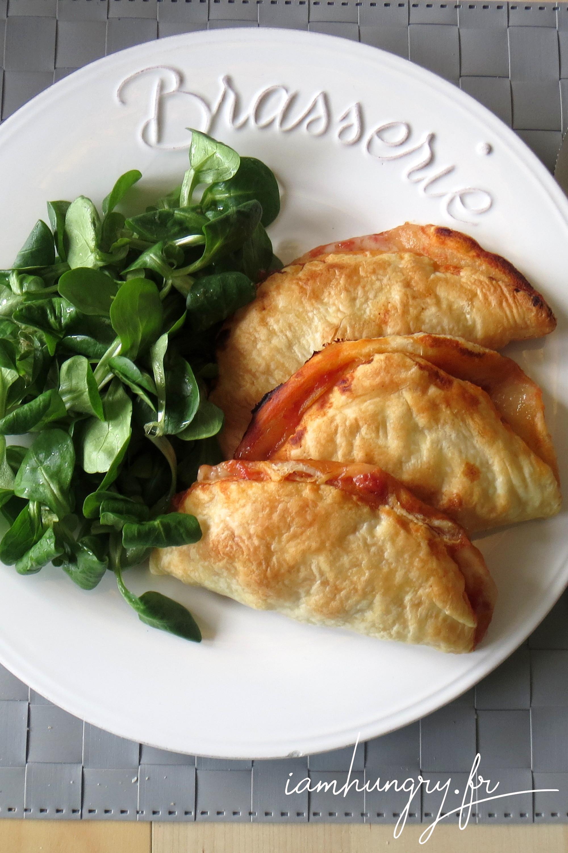 Chausson au gorgonzola et bacon