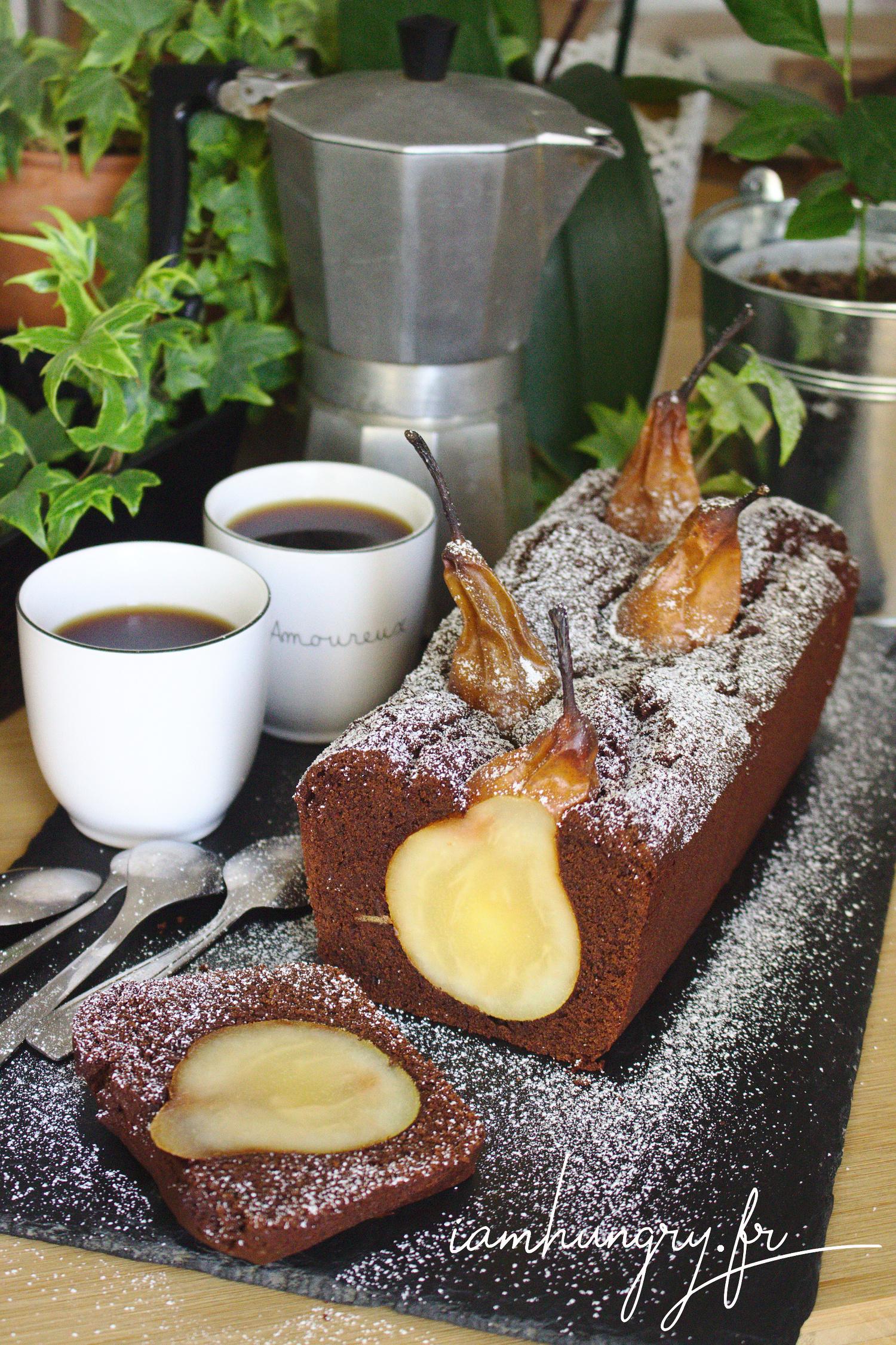 Moelleux au chocolat farci aux poires