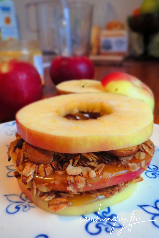 Sandwitch pomme caramel muesli
