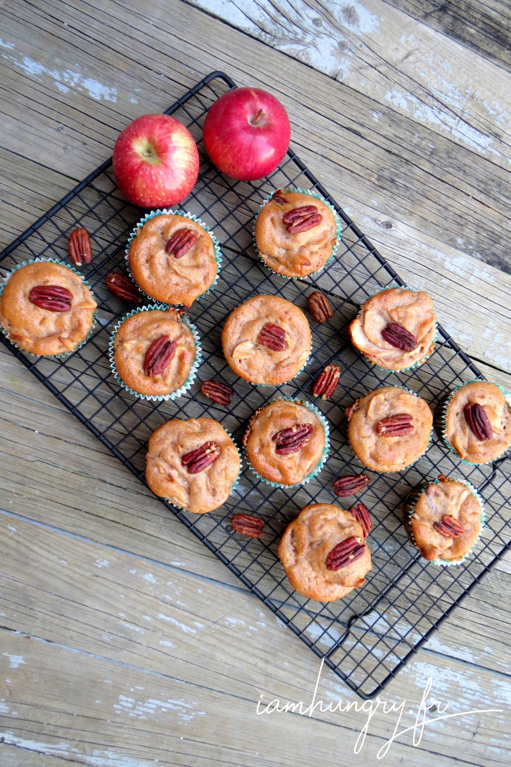 Muffins pommes pecan