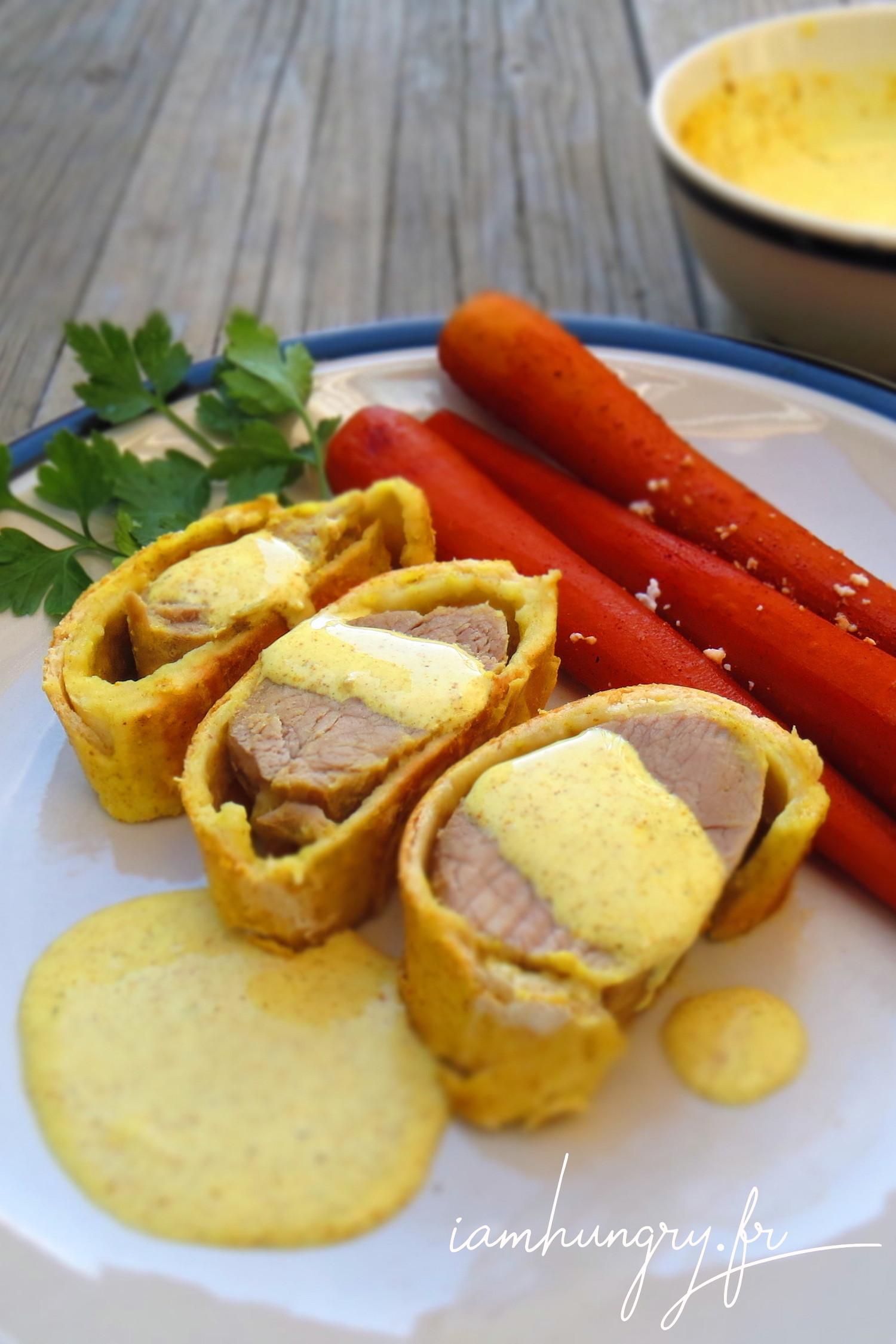 Filet mignon en croûte de curry