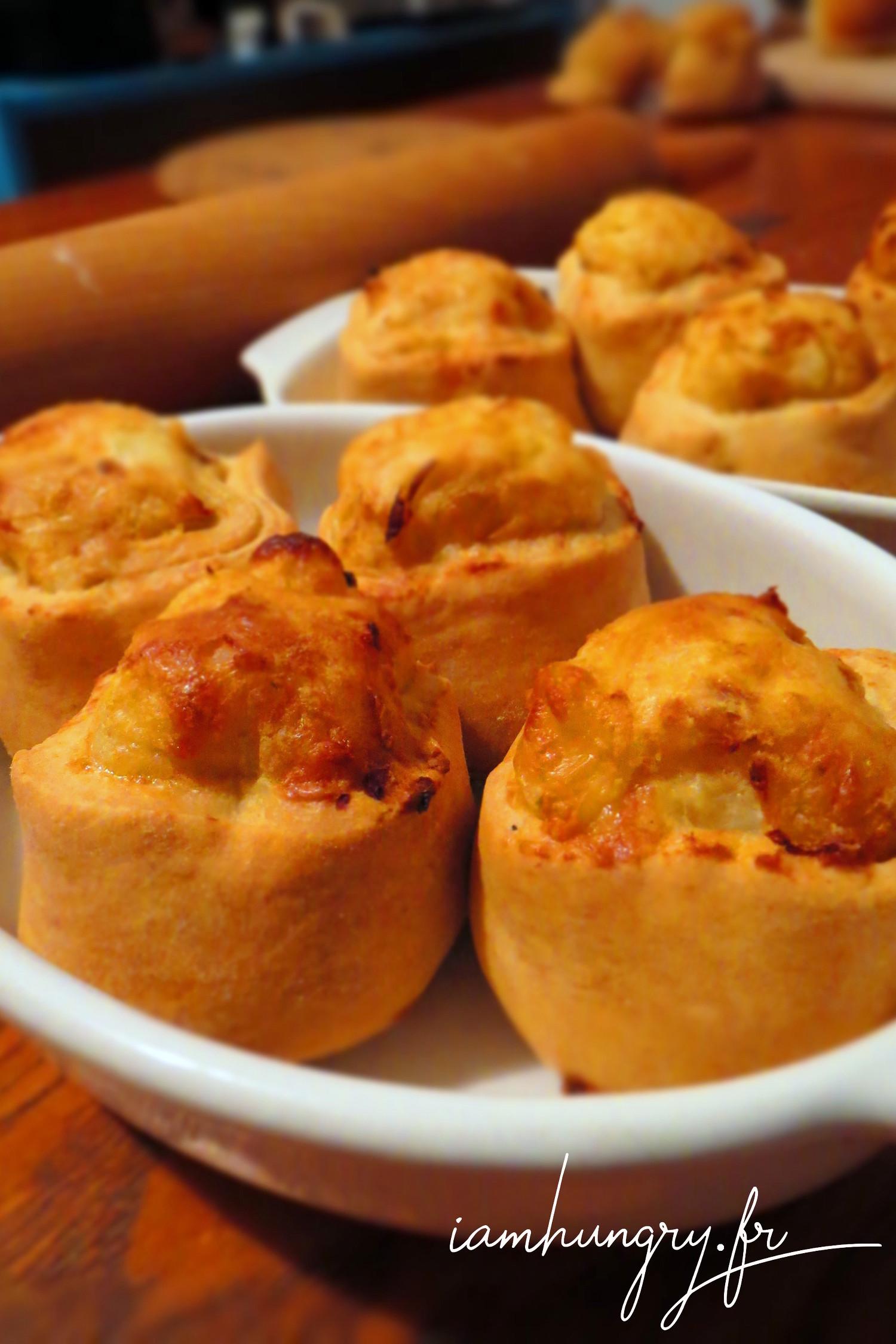 Knish de patates et mozzarella