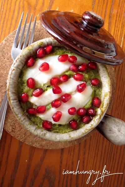 Cabillaud à la crème de poivrons