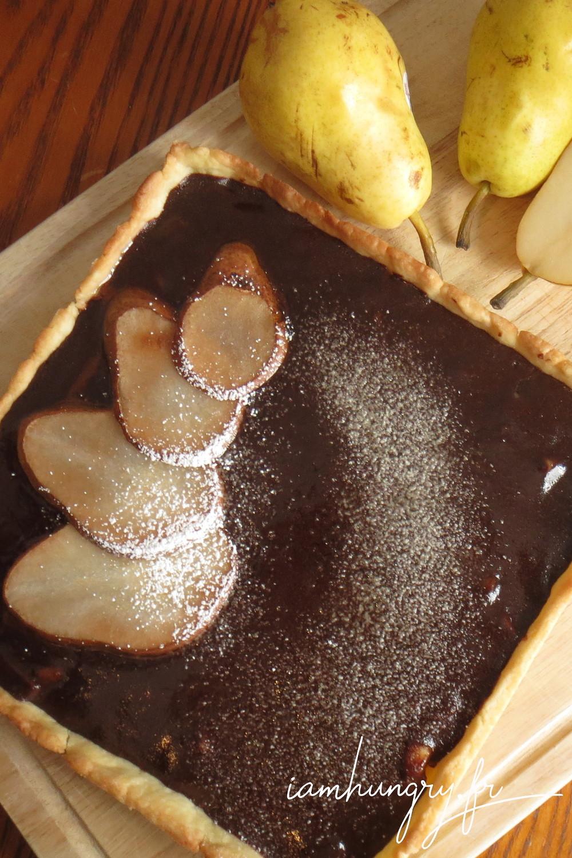 Tarte poire chocolat