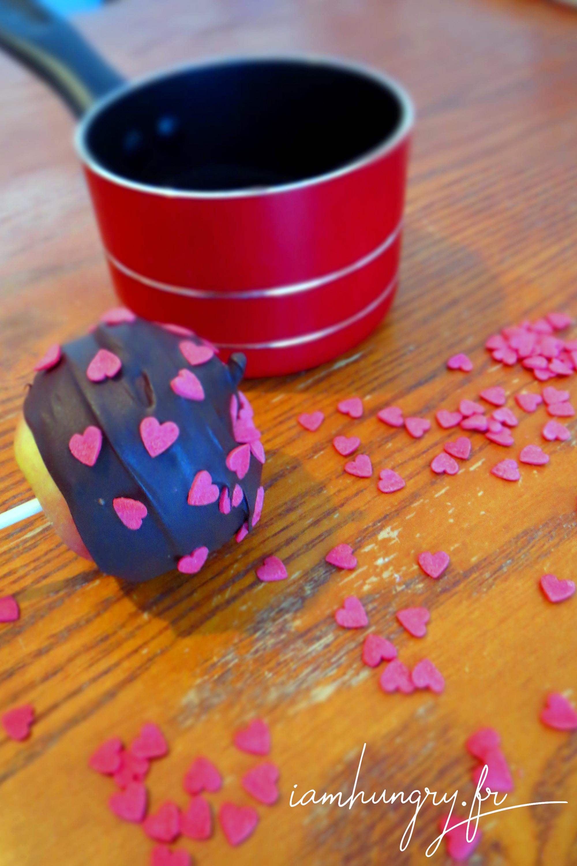Pommes d'amour au chocolat