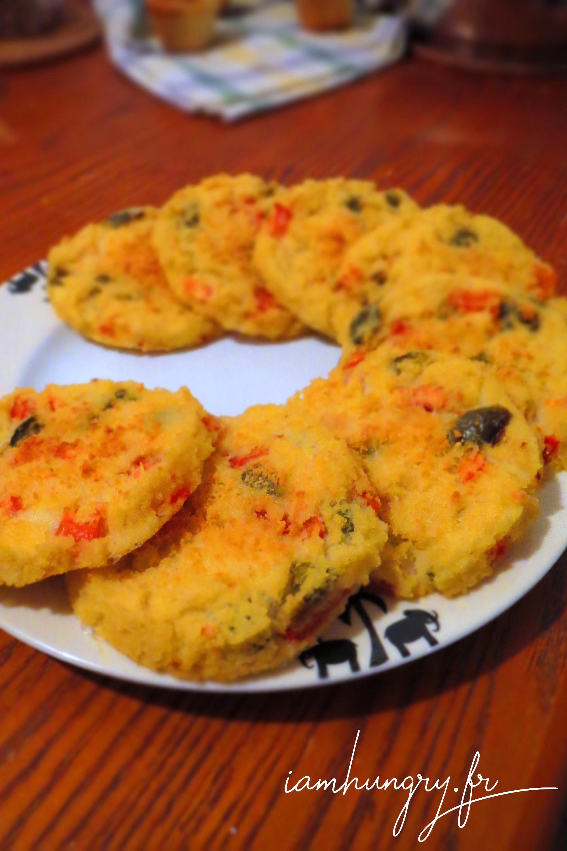Galettes de polenta aux petits légumes
