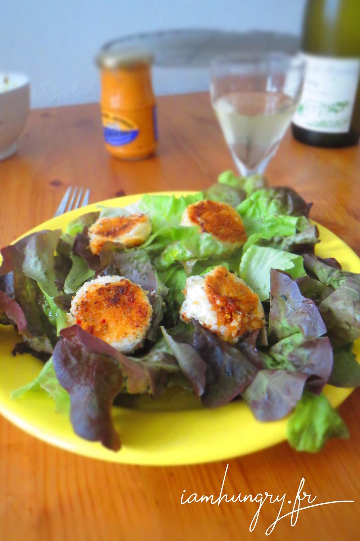 Salade che%cc%80vre pane%cc%81