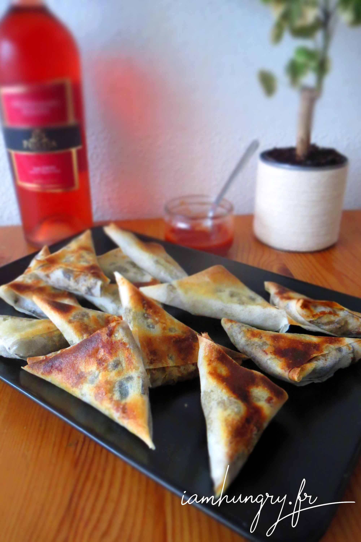 Samoussas d'aubergines et parmesan