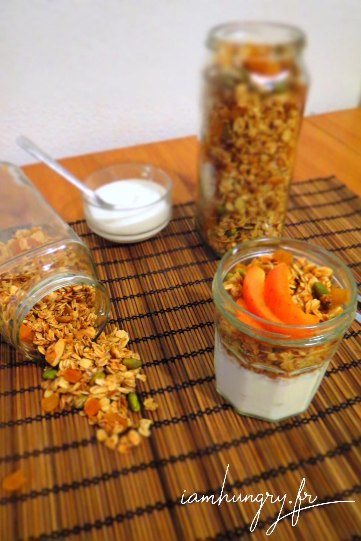 Muesli abricots séchés et pistaches