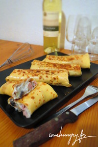 Crepe jambon fromage