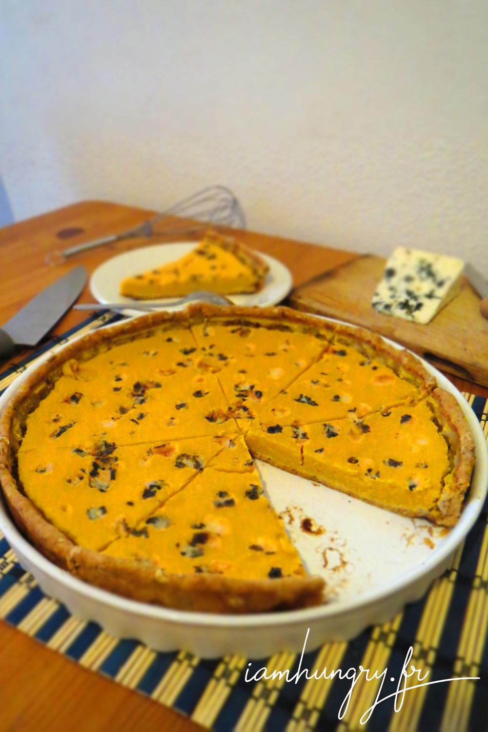 Tarte courge roquefort