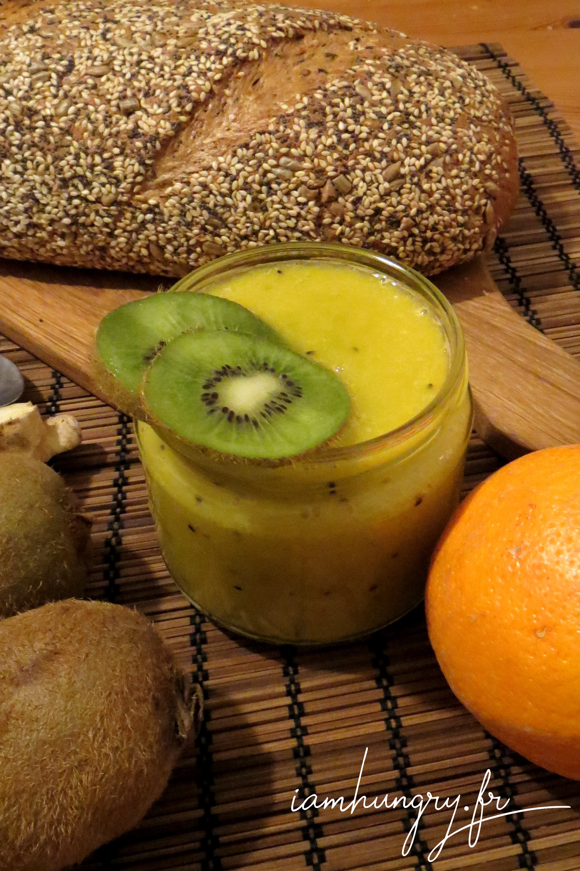 Smoothie orange kiwi et gingembre