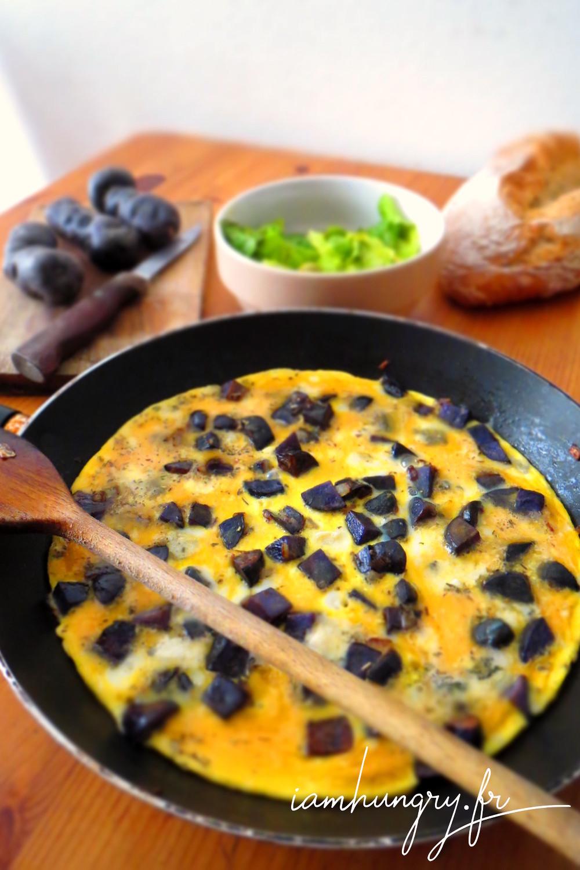 Omelette aux vitelottes