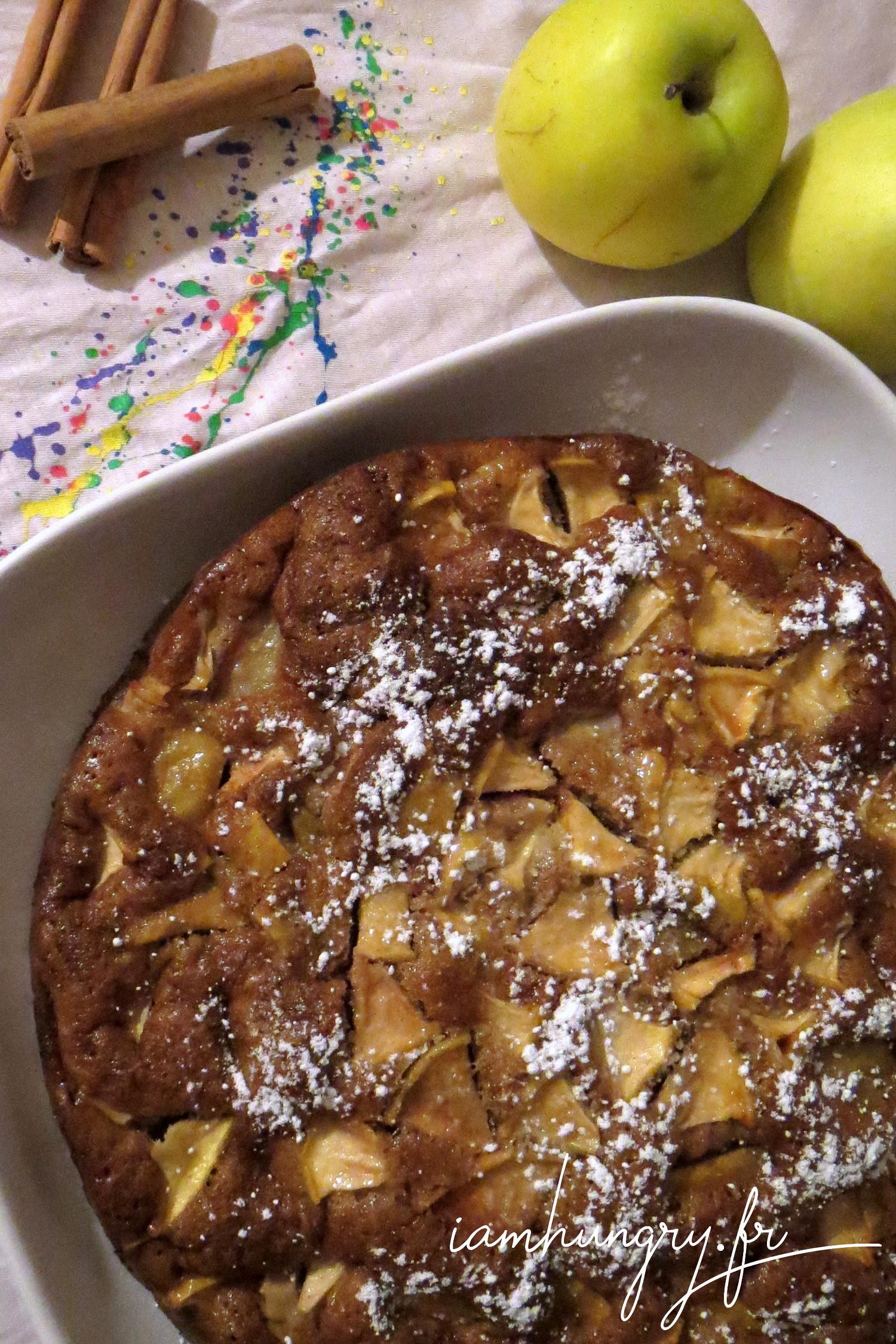 Moelleux aux pommes poires et à la cannelle
