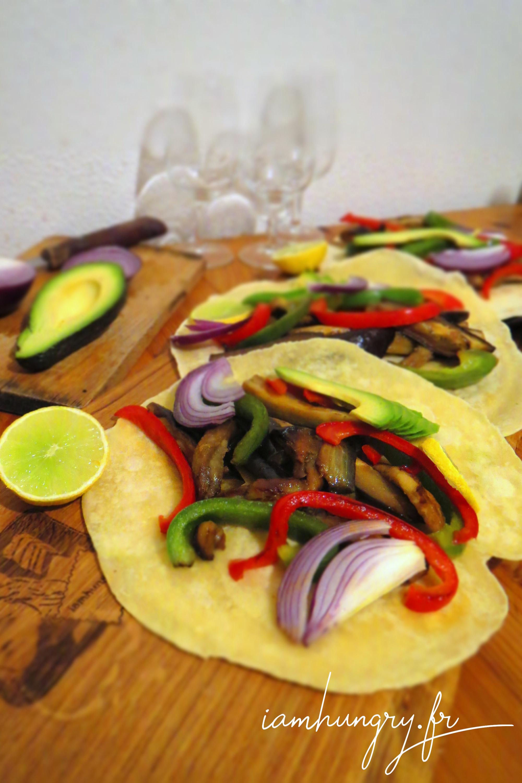 Tortillas aux légumes grillés