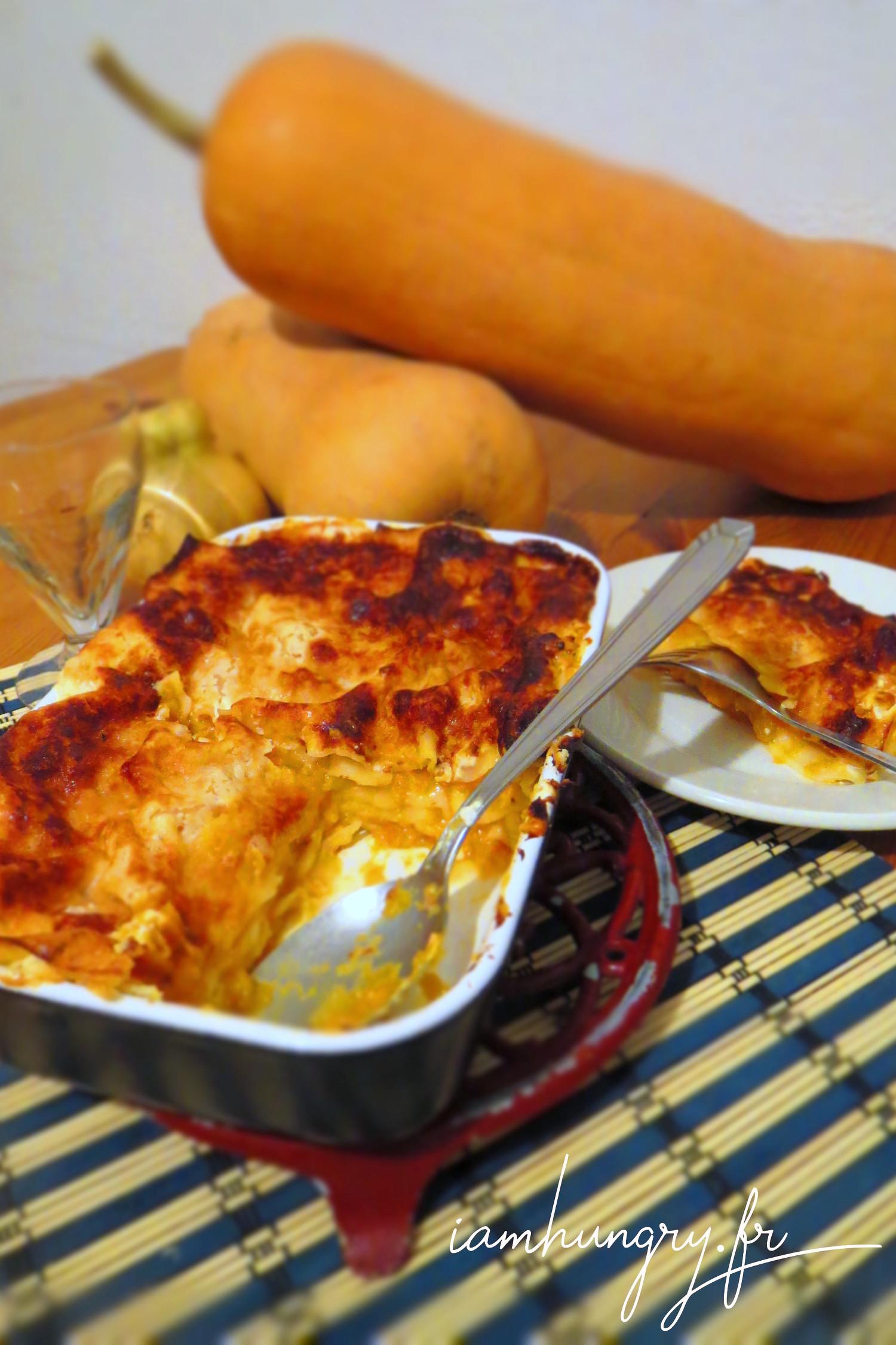 Lasagnes crémeuses à la courge butternut