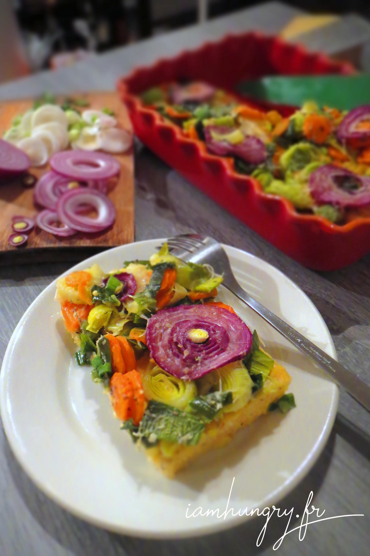 Polentarte aux légumes d'hiver