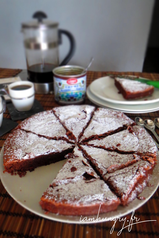 Moelleux crème de marron chocolat et amande