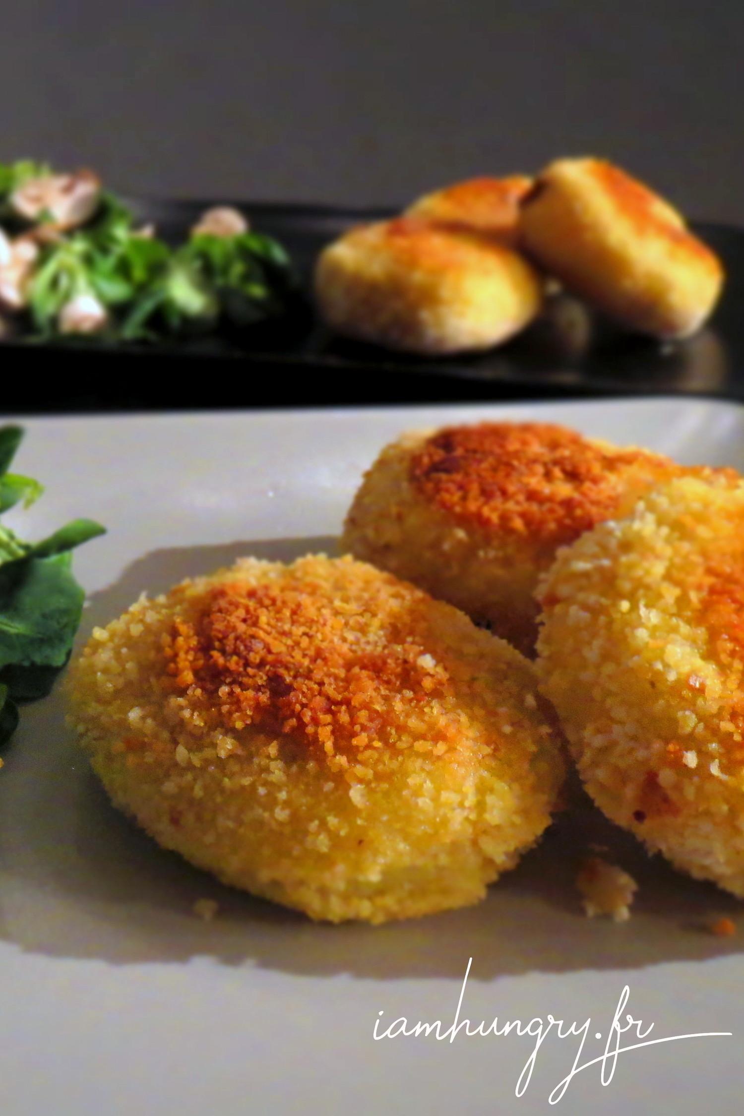 Croquettes de pommes de terre et coeur de mozzarella