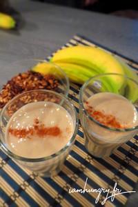 Smoothie banane avoine et lait d'amande