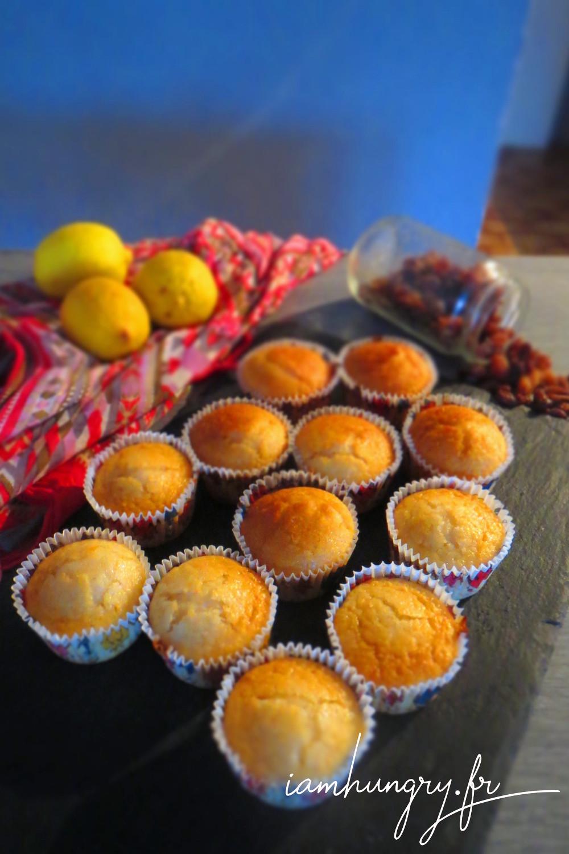 Muffins vegan citron raisin sec